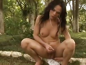 Tatiana Torres Transexual Beauty Outdoor Jerking