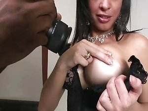 Sexy shemale model Ana Paula anal sex
