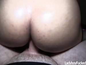 Ladyboy Lisa Gets Cock Inside Her Wet Ass